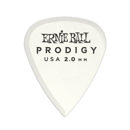 Ernie Ball Prodigy White 1s Standard 2.0mm Picks 6-Pack