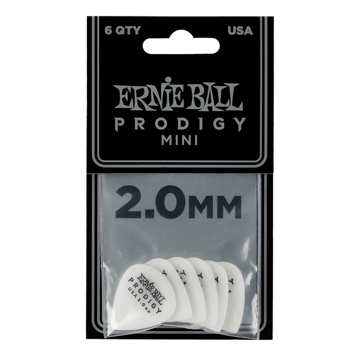 Ernie Ball Prodigy White 3s Mini 2.0mm Picks 6-Pack