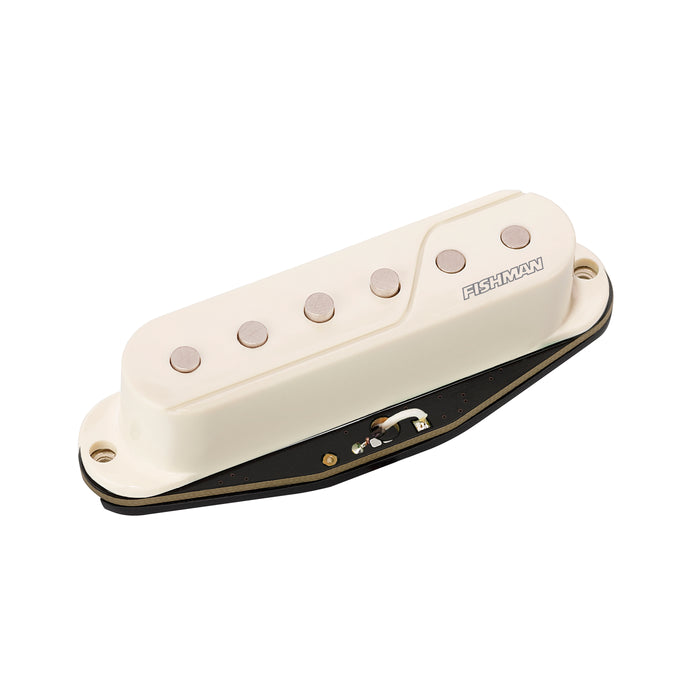 Fishman Fluence SS Single Width Pickup - Black/White