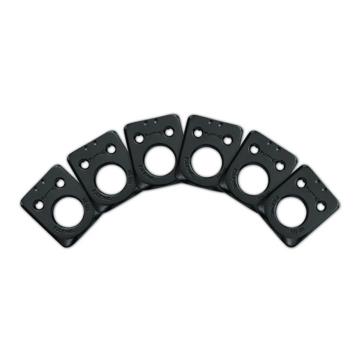 Graph Tech Ratio InvisoMatch Premium Mounting Plates For Fender Style 2 Pin Hole - Black