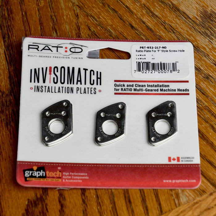 Graph Tech Ratio InvisoMatch Premium Mounting Plates For F Style Screw Hole - Nickel