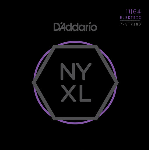 D'Addario NYXL1164 7-String Medium Nickel Wound Electric Guitar Strings - 11-64 Gauge