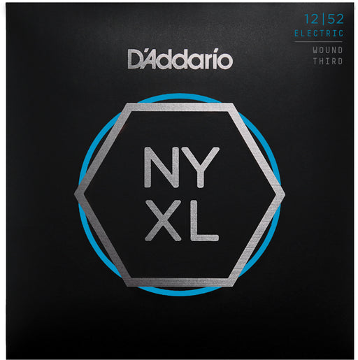 D'Addario NYXL1252W Nickel Wound Electric Guitar Strings - Light Wound 3rd - 12-52 Gauge