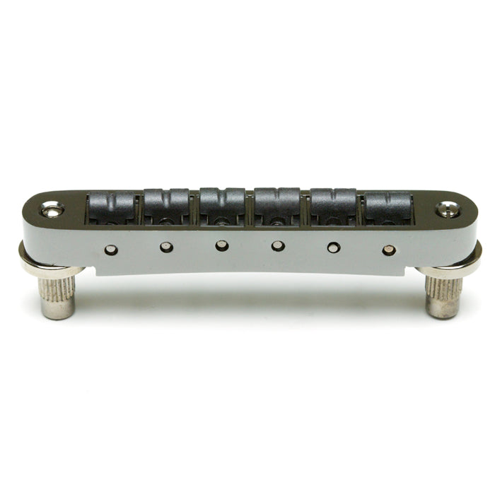 Graph Tech ResoMax NV2 4mm Tune-O-Matic Bridge w/ String Saver Saddles - Black Nickel