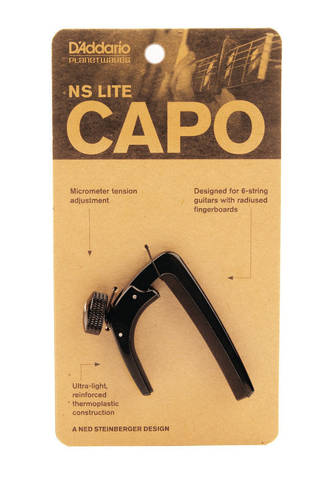 D'Addario Planet Waves NS Capo Lite - Black