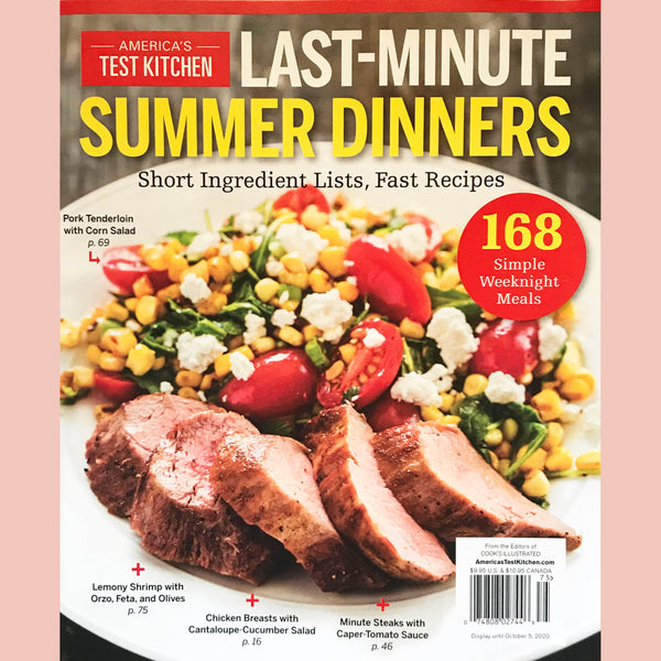 America's Test Kitchen Last Minute Summer Dinners