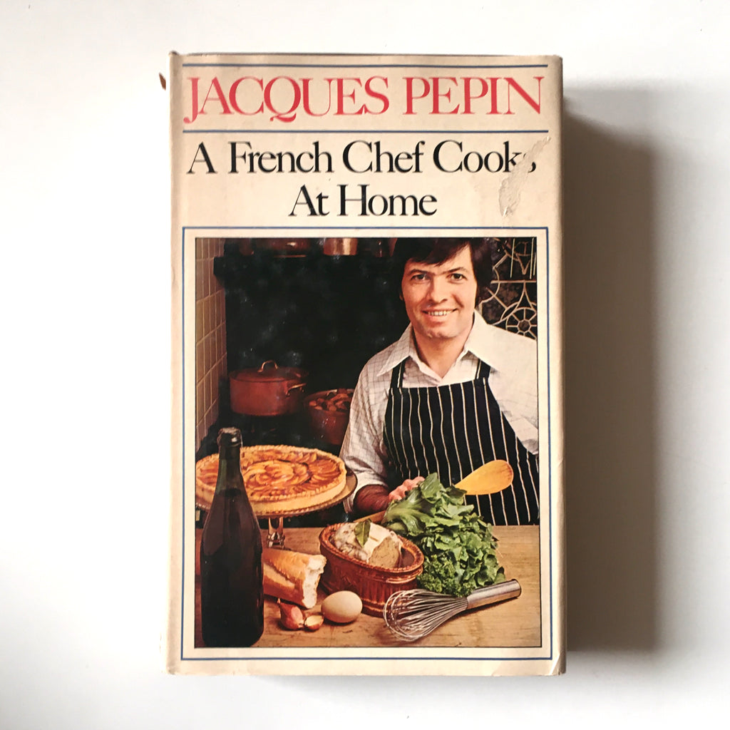 French Chef Cooks at Home (Jacques Pepin) INSCRIBED Previously Owned