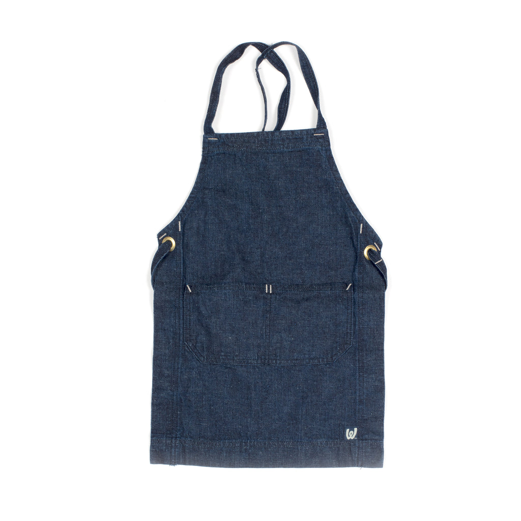 White Bark Denim Child's Apron (5-8)