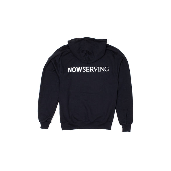 NS Champion Hood Sweatshirt Black