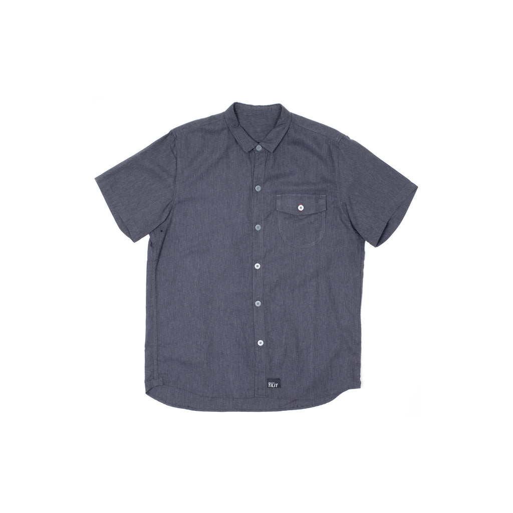 Tilit French Kitchen Workshirt: Gray Chambray