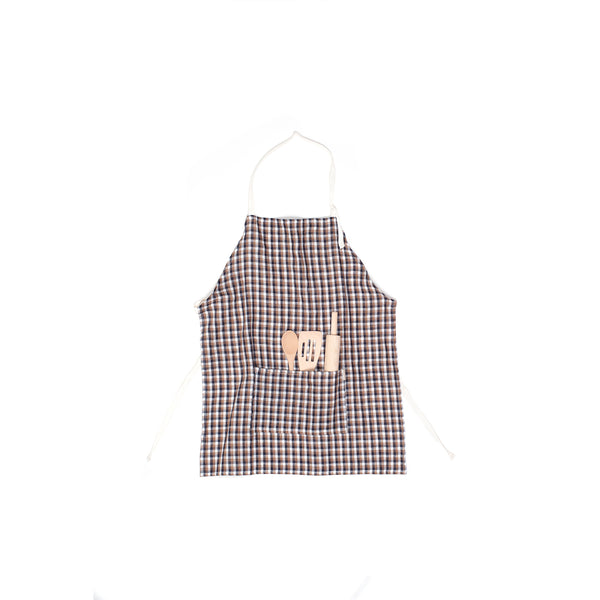 Odette Williams Children's Check Cotton Apron Set (3-8)