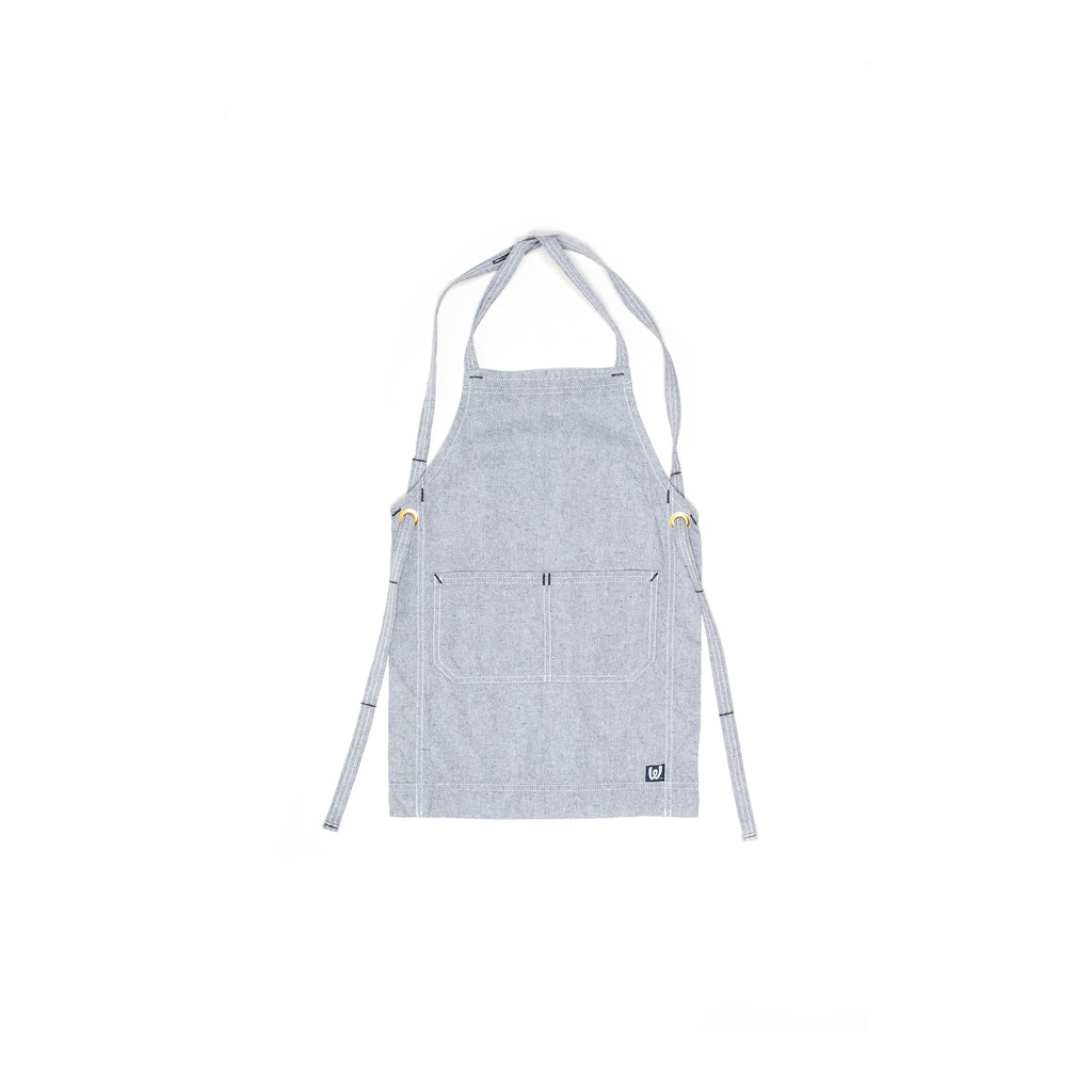 White Bark Light Gray Children's Apron (5-8)
