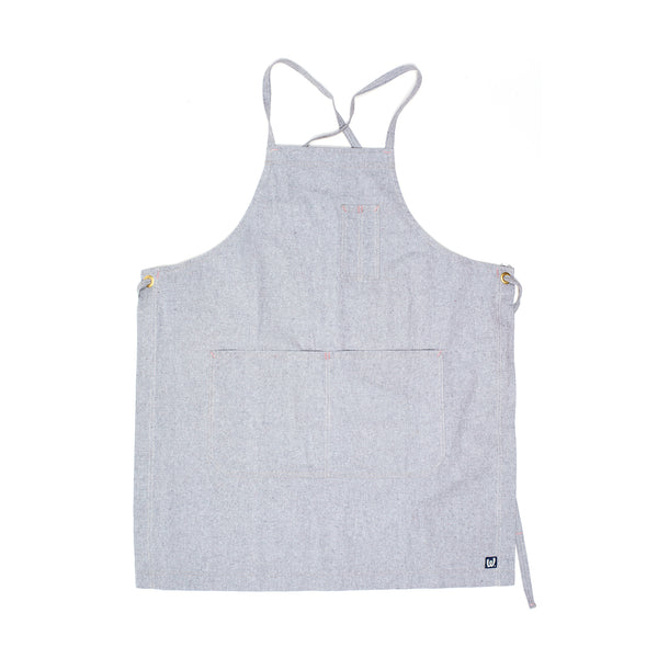 White Bark Light Gray Cross-Back Apron