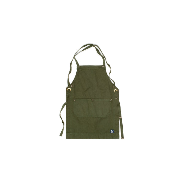 White Bark Dark Green Children's Apron (5-8 )