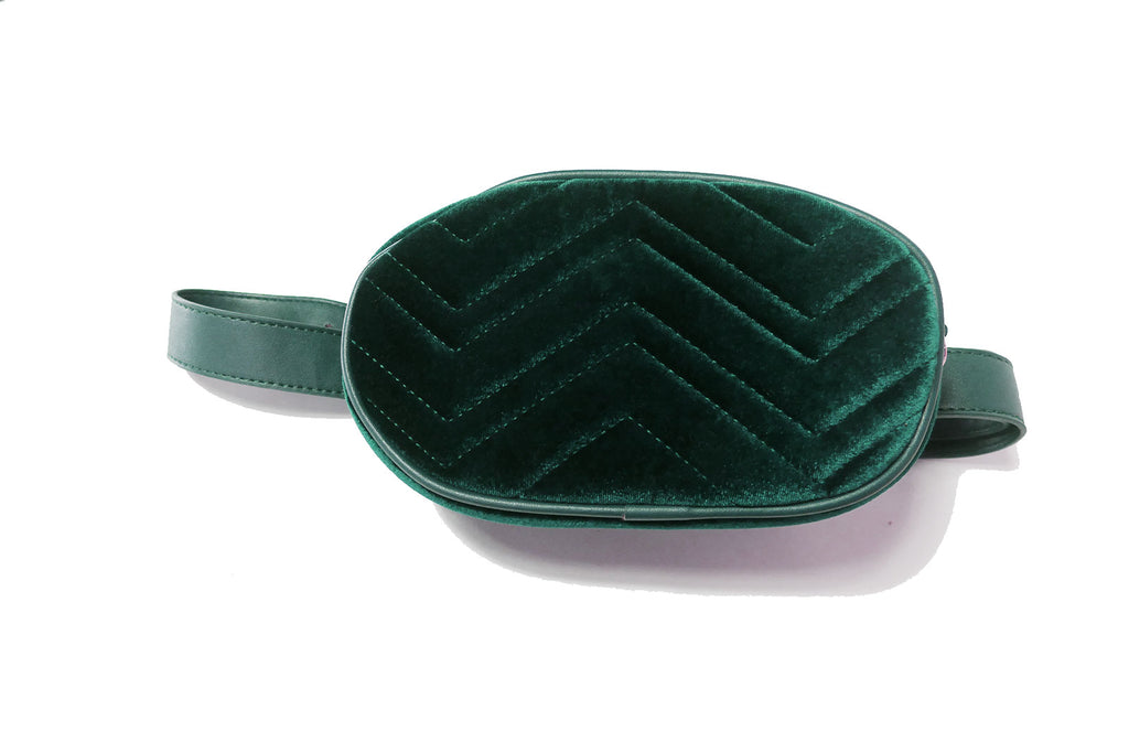Velvet Fanny Pack / Cross Shoulder Bag