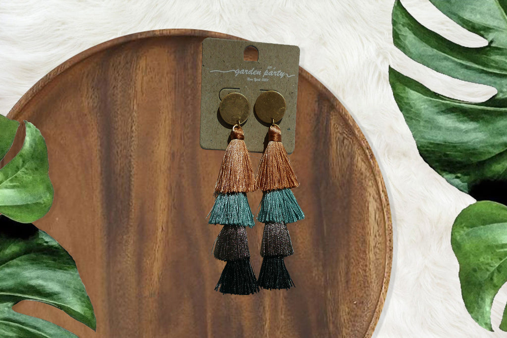 4 Tier Tassel/Fringe Earrings