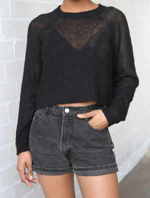 Lightweight Sheer Boxy Sweater