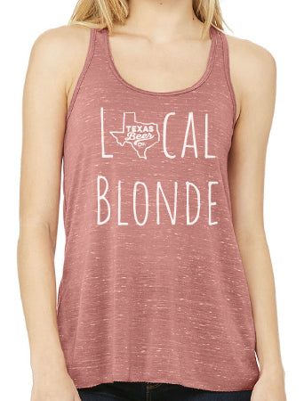 Local Blonde Racerback Tank