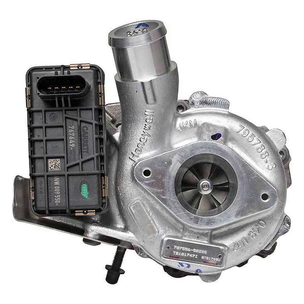 This genuine GTB1749VK Garrett turbocharger is a brand new direct replacement for the factory unit to suit the 2011 onwards Ford Ranger PX1, Transit VM / Mazda BT-50 UP with a P4AT 2.2L diesel engine.
