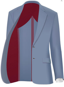 MICHELE Sport Coat-Blue with Pink Windowpane