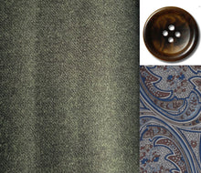 Load image into Gallery viewer, MICHELE Sport Coat- Dark Green Flannel Wool Super 120's
