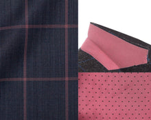 Load image into Gallery viewer, MICHELE Sport Coat-Blue with Pink Windowpane