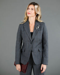 JORDAN Sport Coat-Grey & Lavender Plaid