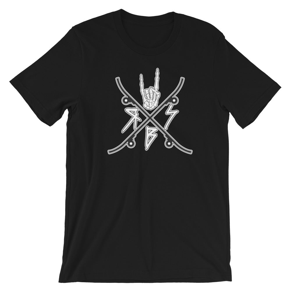 Raid SB Logo Shirt (White on Black)