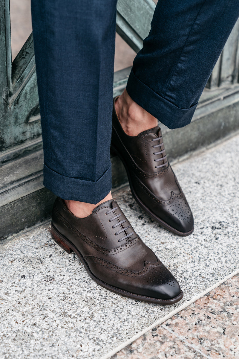 Rafael Wingtips - Slate - Gaius Walks