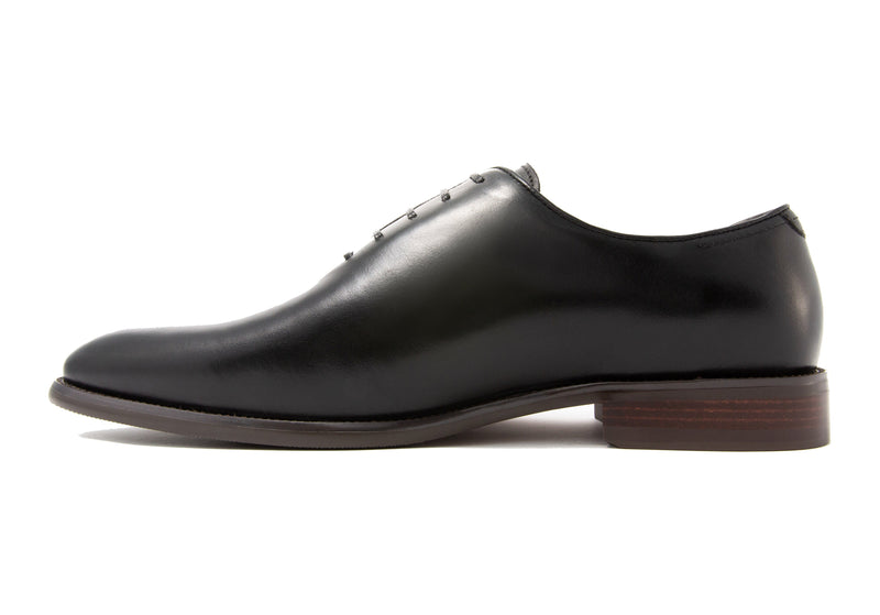 Andres Wholecut Oxfords - Ebony - Gaius Walks