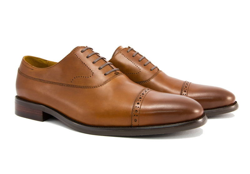 Burchell Cap Toe - Pecan - Gaius Walks