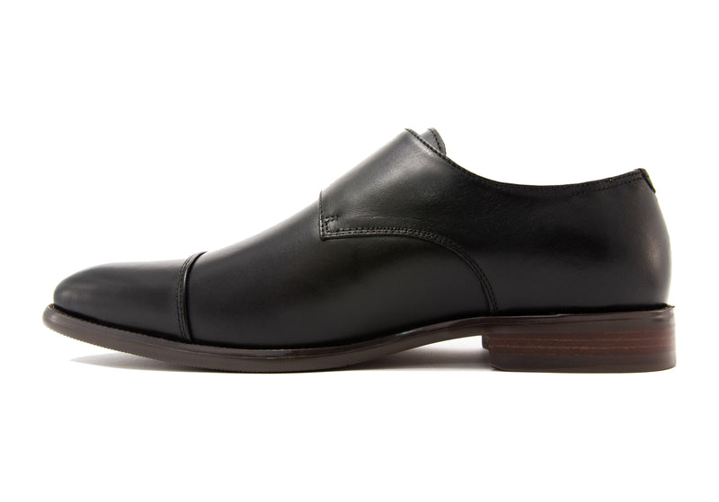 Diego Double Monkstraps - Ebony - Gaius Walks
