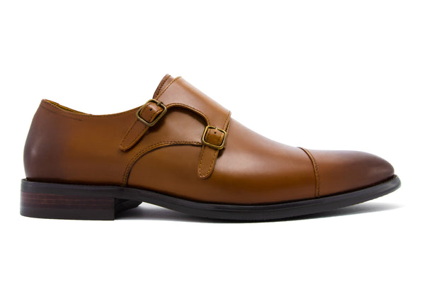Diego Double Monkstraps - Pecan - Gaius Walks