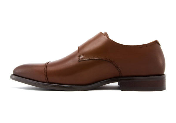 Diego Double Monkstraps - Rust - Gaius Walks