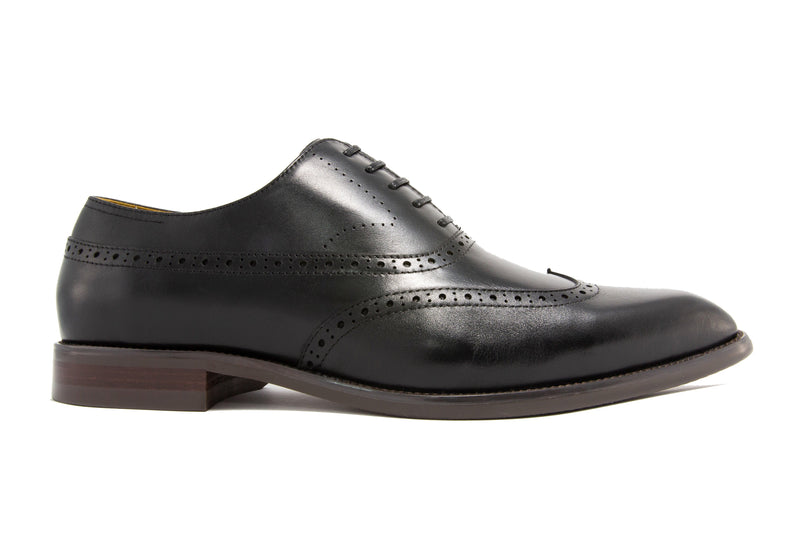 Elliot Wingtips - Ebony - Gaius Walks