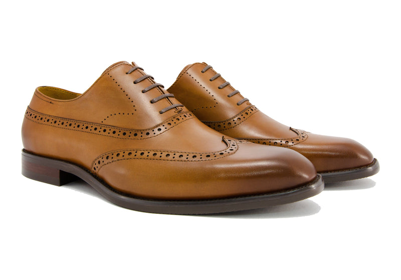 Elliot Wingtips - Pecan - Gaius Walks