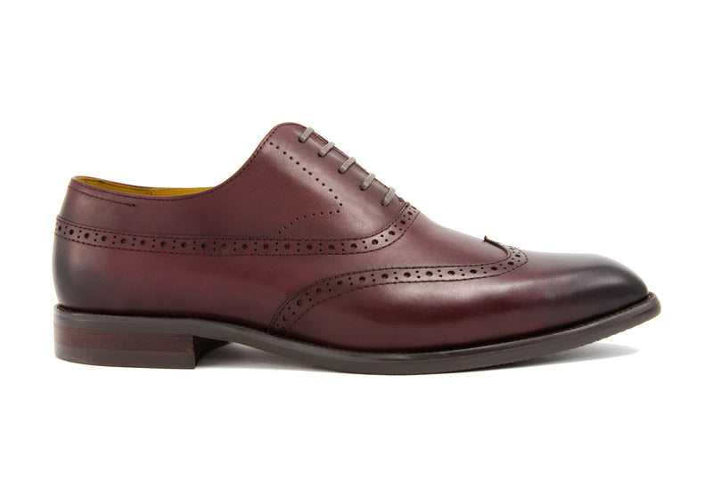 Elliot Wingtips - Sangria - Gaius Walks