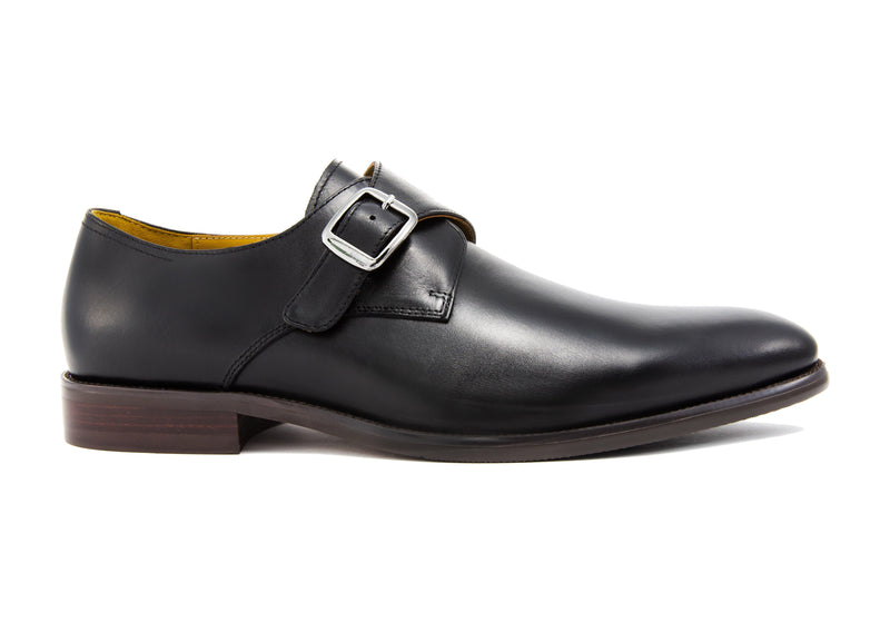 Gianni Single Monkstrap - Ebony - Gaius Walks