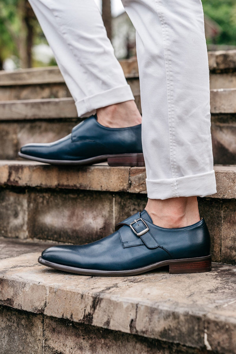 Gianni Single Monkstrap - Indigo - Gaius Walks