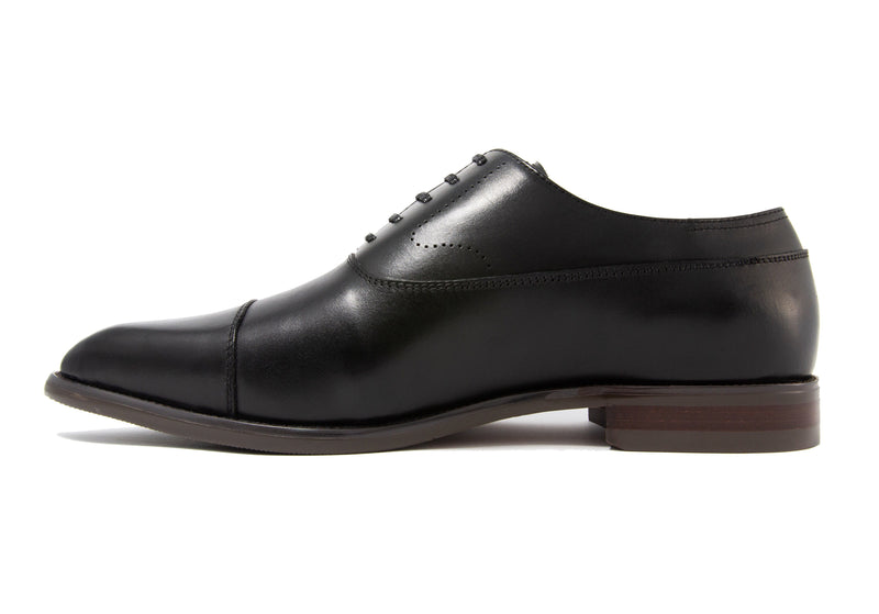 Luca Cap Toe - Ebony - Gaius Walks