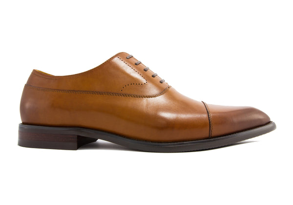 Luca Cap Toe - Pecan - Gaius Walks