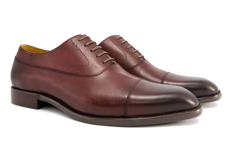 Luca Cap Toe - Sangria - Gaius Walks