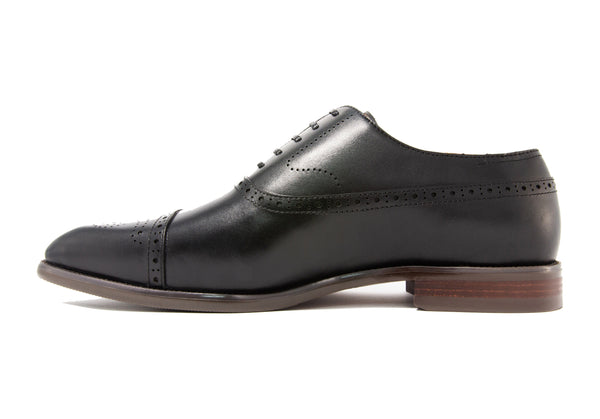 Matteo Semi-brogues - Ebony - Gaius Walks