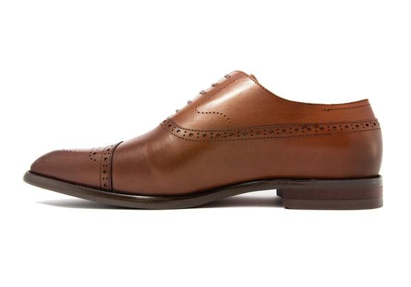 Matteo Semi-brogues - Rust - Gaius Walks