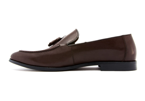 Paolo Napa Leather Tassel Loafers - Espresso - Gaius Walks