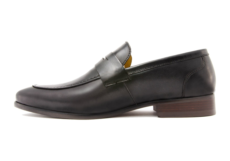 Paterson Penny Loafers - Slate - Gaius Walks