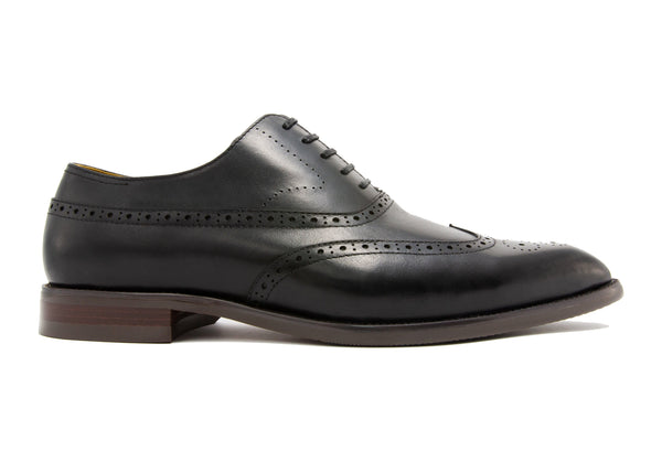 Rafael Wingtips - Ebony - Gaius Walks
