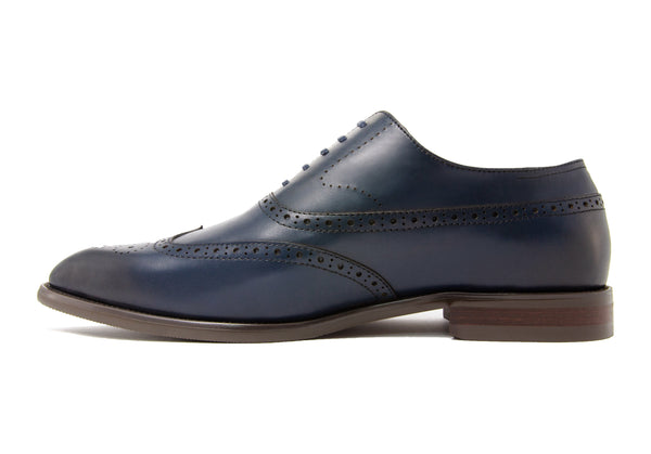 Rafael Wingtips - Indigo - Gaius Walks
