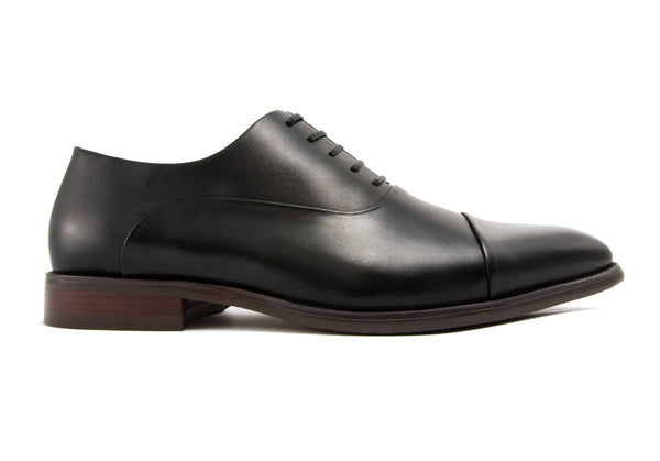 Romeo Cap Toe - Ebony - Gaius Walks