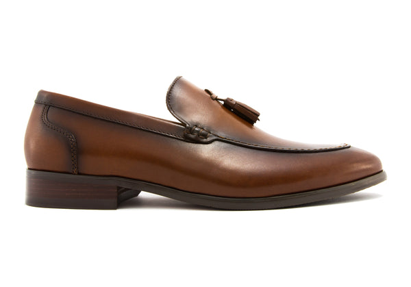Roque Tassel Loafers - Rust